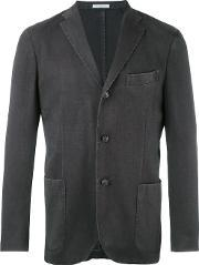 Boglioli , Three Button Blazer Men Cuprowool 48, Black