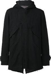 By Walid , Hooded Zipped Jacket Men Linenflax M, Black
