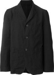 Casey Casey , Notched Lapel Blazer Men Cottonlinenflax M, Black