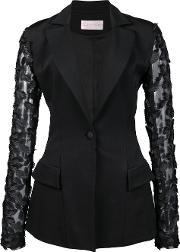Christian Siriano , Fitted Jacket Women Viscose Crepe 2, Women's, Black