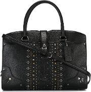 Coach , Studded Tote Women Leathermetal Other One Size