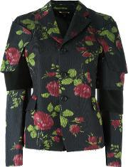 Comme Des Garcons , Flower Print Jacket Women Silkcottonpolyestercupro S, Women's, Black