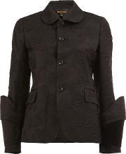 Comme Des Garcons , Jacquard Fitted Jacket Women Silkcottonpolyestercupro S, Women's, Black