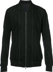 Devoa , Zip Up Striped Jacket Men Cottonpolyester 3, Black