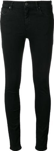Diesel Black Gold , Type Jeans Women Cottoncalf Leatherpolyesterspandexelastane 28