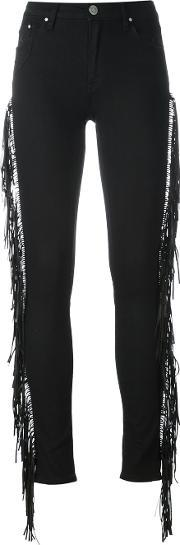 Dont Cry , Don't Cry Fringed Sides Skinny Jeans
