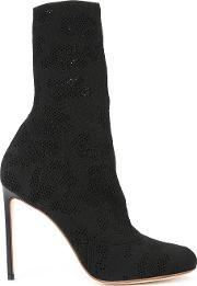 Francesco Russo , Perforated Detail Mid Calf Boots