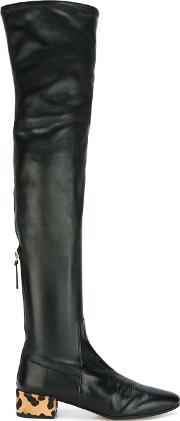 Francesco Russo , Thigh High Contrast Heel Boots