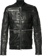 Hood By Air , Leather Bomber Jacket Men Leather M, Black