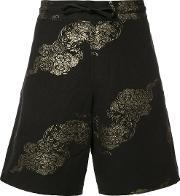 Ikiji , Gilt Printed Shorts Men Cottonlinenflax L