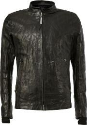 Isaac Sellam Experience , Zip Front Lambskin Jacket Men Lamb Skinwool L