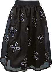 Jupe By Jackie , Floral Embroidered Full Skirt