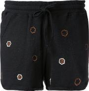 Jupe By Jackie , Floral Embroidery Shorts