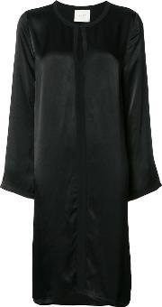 Just Female , Round Neck Shift Dress Women Viscose S, Women's, Black