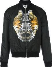 Les Hommes Urban , Graphic Print Bomber