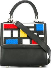 Les Petits Joueurs , Lego Motif Tote Women Leather One Size, Women's, Black