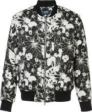 Levis Made & Crafted , Levi's Made & Crafted Floral Print Bomber Jacket Men Cottonacrylicpolyester 2, Black
