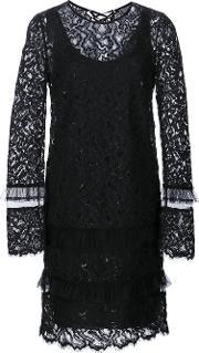 Maiyet , Longsleeved Lace Dress Women Nylon 0, Women's, Black