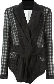 Marc Le Bihan , Deconstructed Checked Blazer