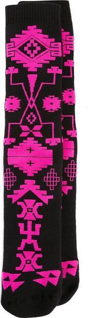 Marcelo Burlon County Of Milan , 'melimoyu' Socks Women Cottonpolyamidespandexelastane One Size, Women's, Black