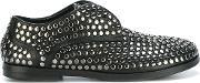 Marsell , Studded Lace Up Shoes Women Calf Leatherleathermetal Other Rubber 38, Women's, Black