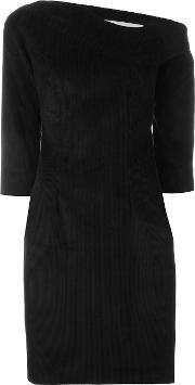 Martine Jarlgaard , Asymmetric Fitted Dress Women Cottonviscose 10, Women's, Black