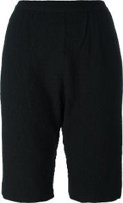 Masscob , Drop Crotch Knee Length Shorts Women Cottonwool 38, Women's, Black