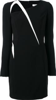 Mugler , Contrasting Detail Dress