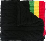Palm Angels , Striped Edges Scarf Men Polyamidewool One Size