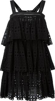 Plein Sud , Layered Dress Women Cotton 42, Women's, Black