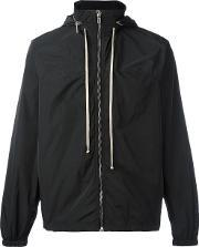 Rick Owens , Hooded Windbreaker Men Polyestercupro 46
