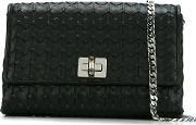 Serapian , Textured Crossbody Bag Women Lamb Skin One Size, Women's, Black