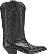 Sonora , Texas Boots Women Leathersnake Skin 38, Women's, Black