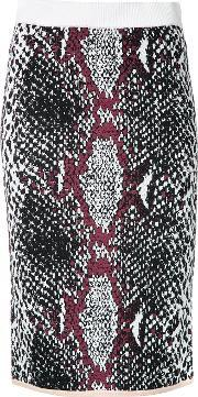 Theatre Products , Snakeskin Print Fitted Skirt
