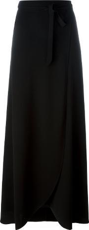 Theory , Ankle Length Wrap Skirt Women Polyestertriacetate 8, Women's, Black
