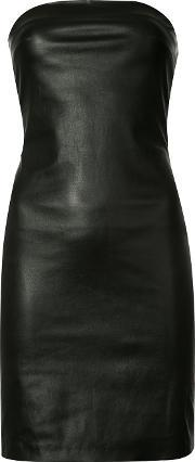 Theperfext , Fitted Dress Women Leather M, Women's, Black