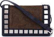 Tomasini , Mirror Squares Crossbody Bag Women Leathersuede One Size, Women's, Black
