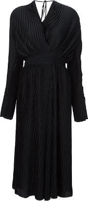 Tome , Satin Pleated Wrap Dress Women Polyester M