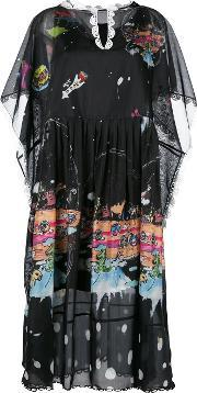 Tsumori Chisato , Printed Shift Dress Women Polyester S, Women's, Black
