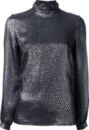 Vanessa Seward , Metallic Roll Neck Top Women Silkmetallized Polyester 40