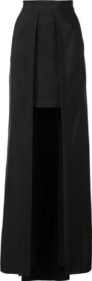 Vera Wang , Cutaway Skirt Women Silk 0, Women's, Black