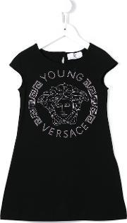Young Versace , Studded Medusa Dress