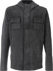 Osklen , Recycled Utilitarian Jacket Men Cottonrecycled Plastic Gg, Grey