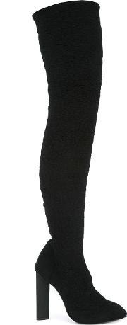 Yeezy , Thigh Length Boots Women Leatherpolyamide 37