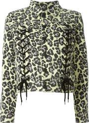 Sibling , Leopard Print Jacket Women Cotton M