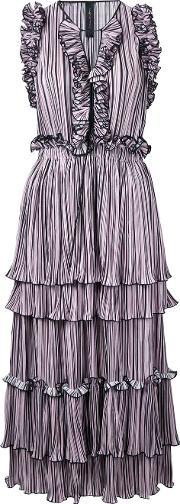 Romance Was Born , Blossoming Pleat Dress Women Polyester 14, Women's, Pinkpurple