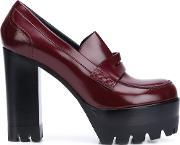 Mulberry , Platform Loafer Pumps Women Calf Leather 37, Women's, Red