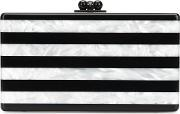Edie Parker , 'jean' Striped Clutch