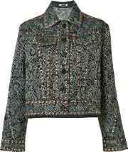 Jourden , Paisley Stud Jacket Women Polyester 40, Women's, Black