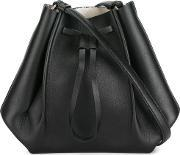Maison Margiela , Small Structured Bucket Bag Women Calf Leatherpolyester One Size, Women's, Black